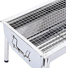 ISUMER Charcoal Grill Barbecue Portable BBQ - Stainless Steel Folding BBQ Kabab Grill Camping Grill Tabletop Grill Hibachi Grill for Shish Kabob Portable Camping Cooking Small Grill - BUZOK