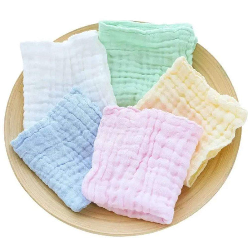 "Baby Muslin Washcloths, 100% Cotton Natural Muslin Baby Towels Baby Wipes, Soft Newborn Baby Face Towels, Baby Registry as Shower Gift, 6 Pack (10×10"") - BUZOK"