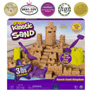 Kinetic Sand Beach Sand Kingdom Playset with 3lbs of Beach Sand, for Ages 3 and Up - BUZOK