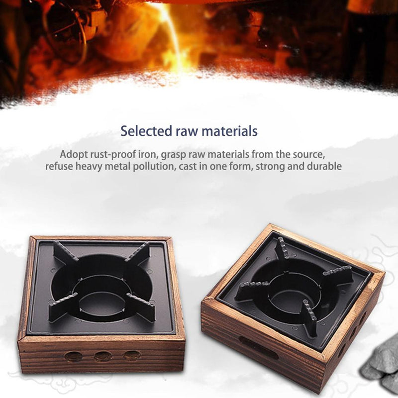Portable Cooking Alcohol Grills Aluminum Alloy Square Commercial Solid Alcohol Stove Household old Dry Stew Hot Pot 16x16x7cm|BBQ Grills
