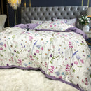 TUTUBIRD Luxury European bedding set 100% Egyptian cotton floral bloom pastoral princess bed linen duvet cover queen king size|Bedding Sets