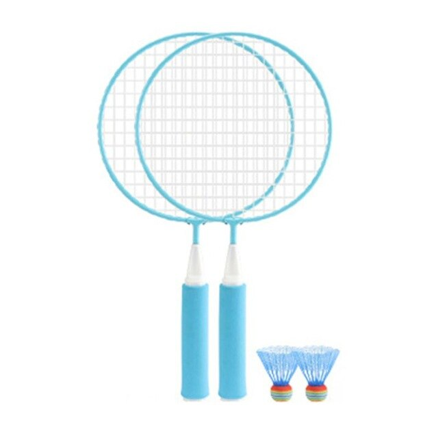 1Pair Kids Children Badminton Racket + 2Pcs Badmintons Set Outdoor Fitness Toy 24BD|Badminton Rackets