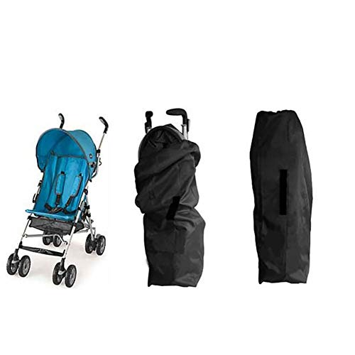 Gate Check Bag for Single Umbrella Strollers, Durable and Lightweight, Water-Resistant, Drawstring Closure with Adjustable Lock, Webbing Handle - BUZOK