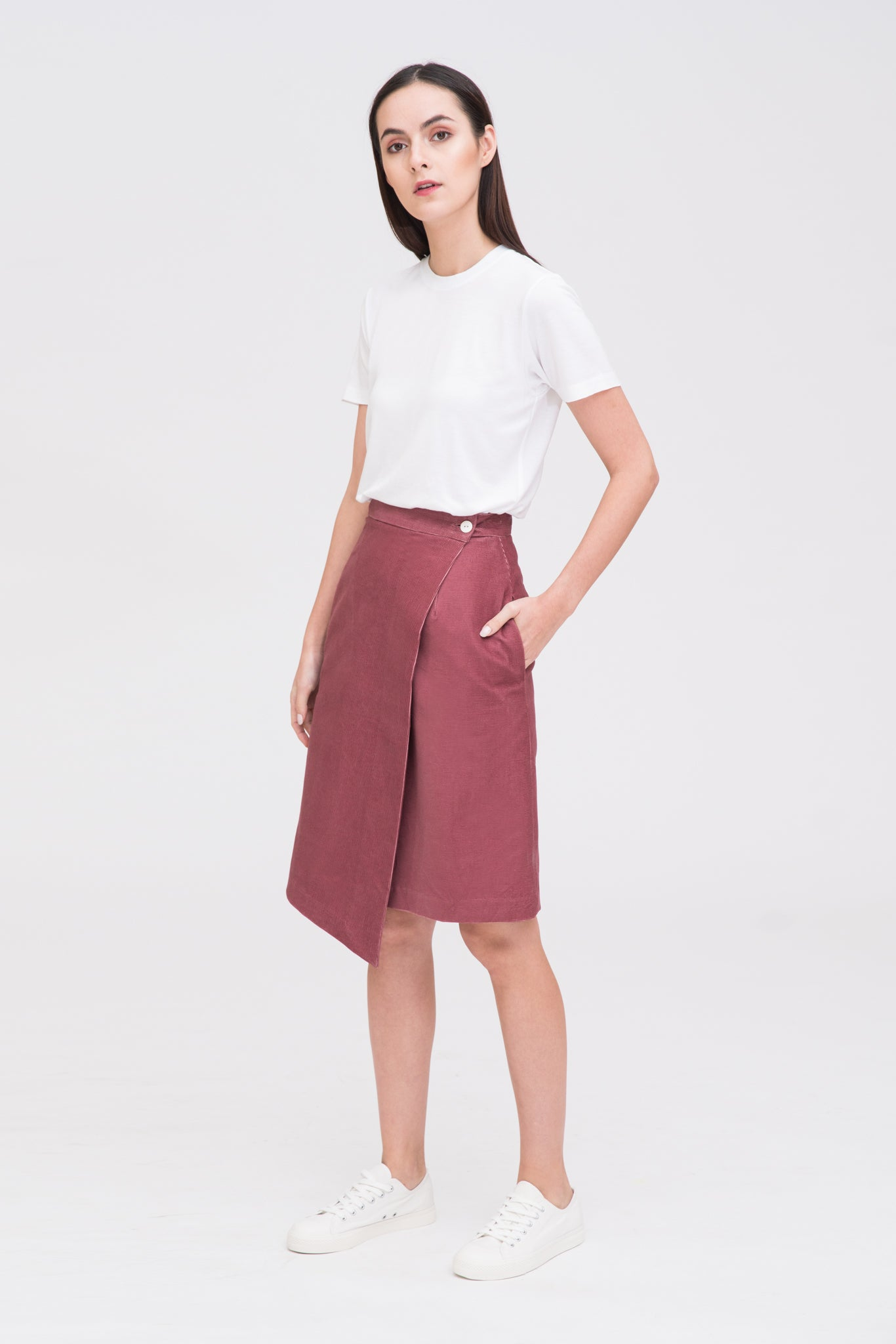Corduroy Wrap Skirt