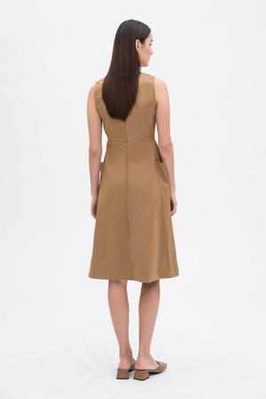Double Pocket Mid Length Dress