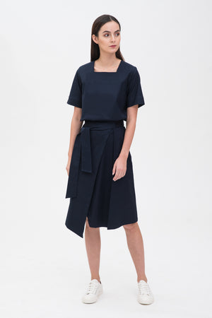 A-line Mid Length Skirt