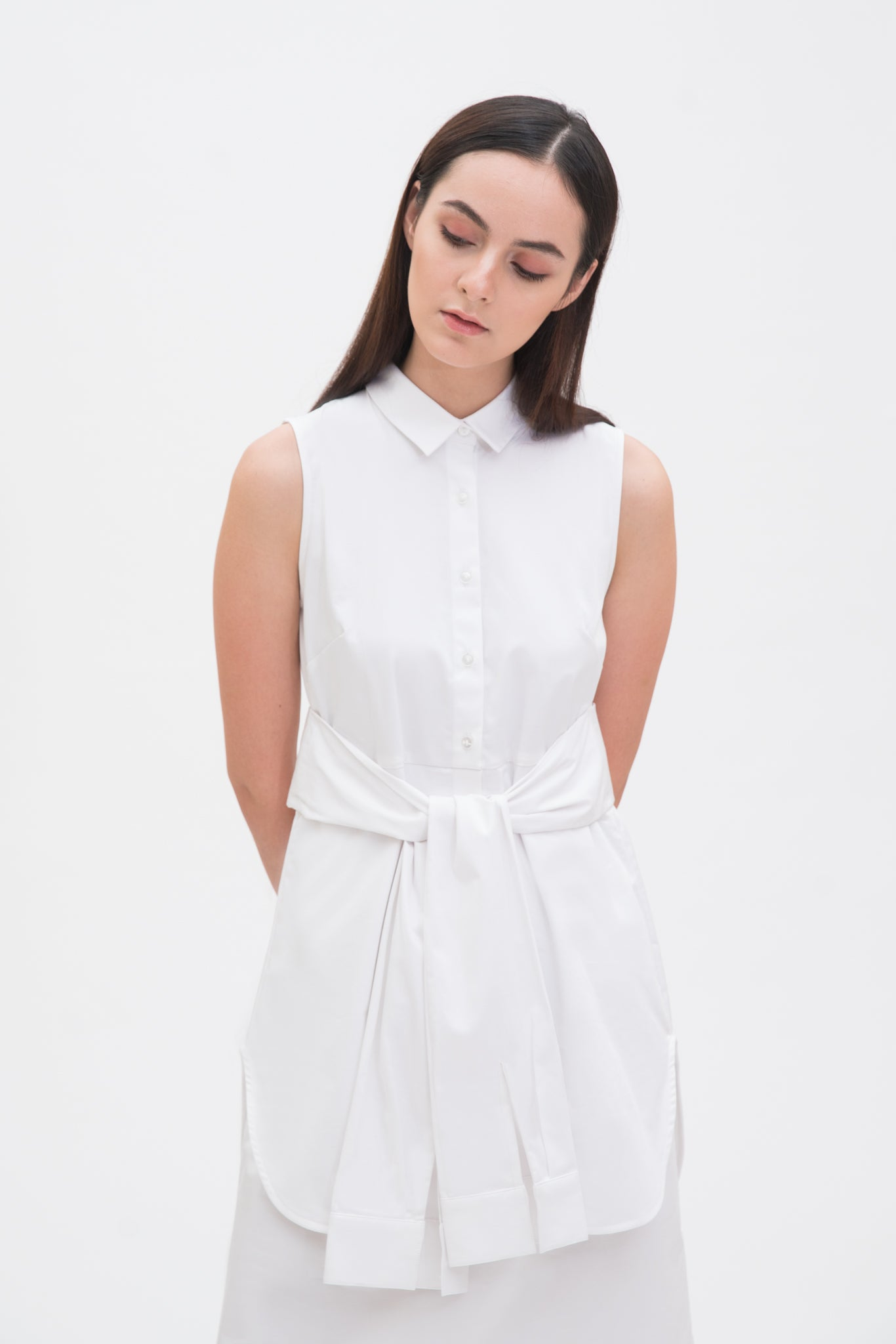 Waist Detail Shirt Dress