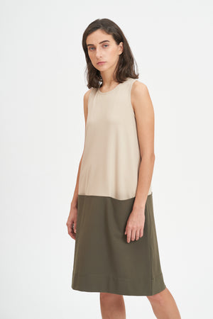 Duo Tone Mid Length Dress