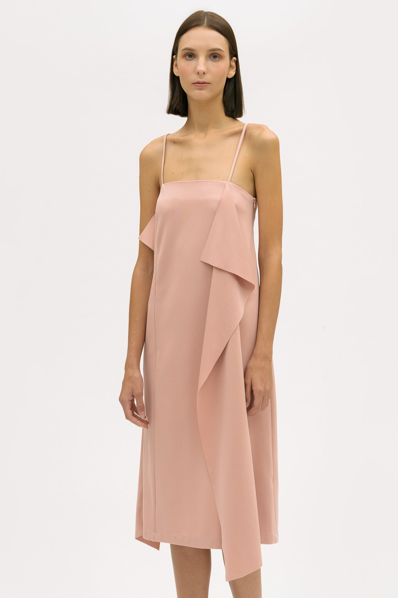 Ruffled Slip Dress