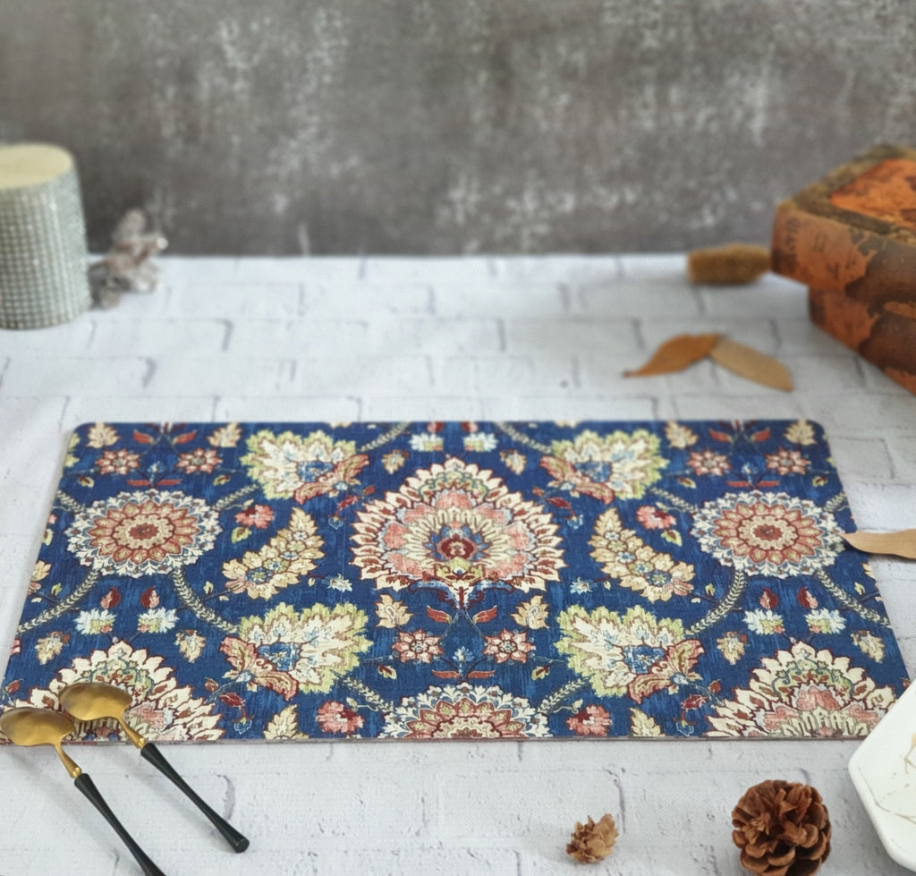 BLUE POPULAR WIPE CLEAN TABLEMATS/PLACEMATS