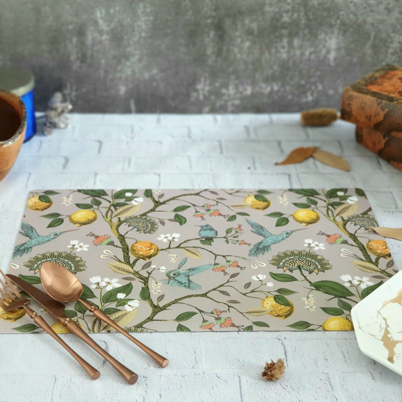HUMMING BIRD WIPE CLEAN TABLEMATS/PLACEMATS