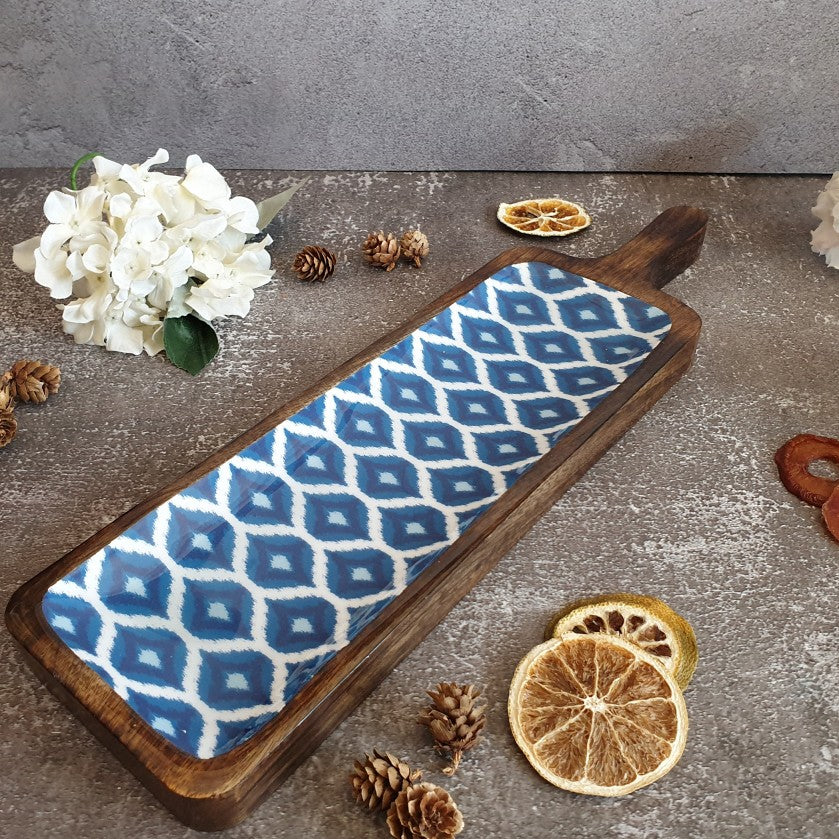 PLATTER - BAT SHAPED - BLUE & WHITE COLLECTION