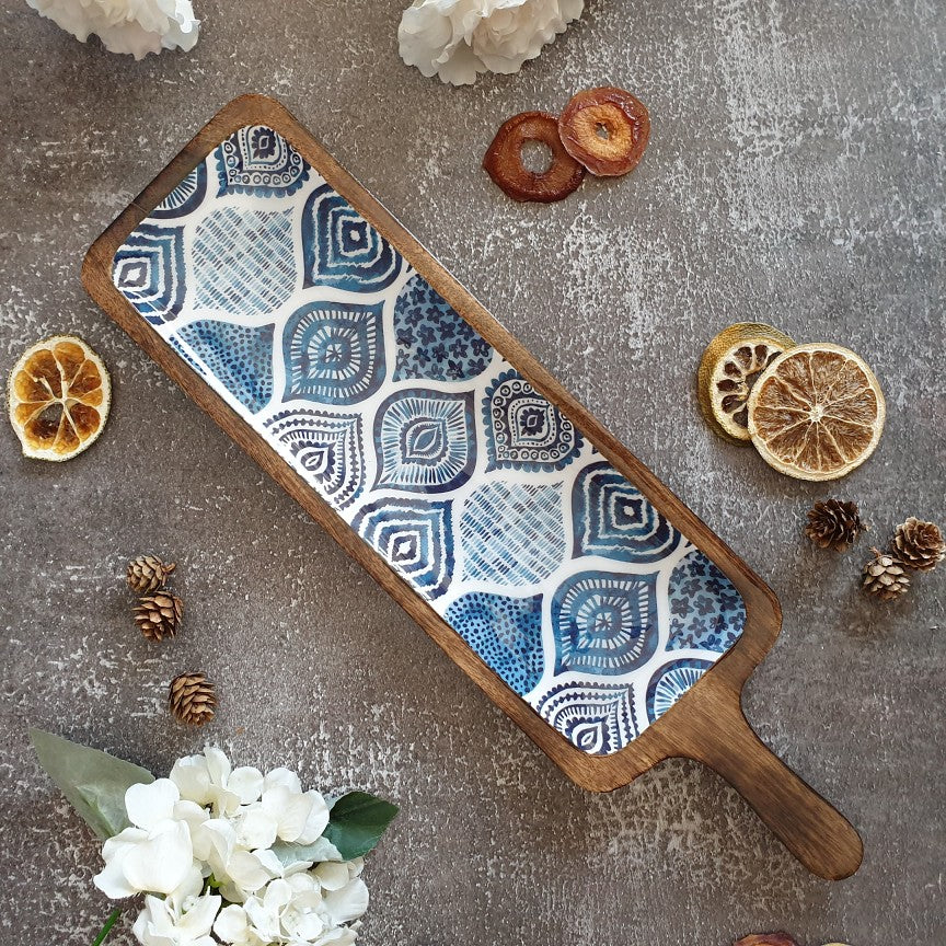 BLUE MANDALA COLLECTION BAT SHAPED PLATTER