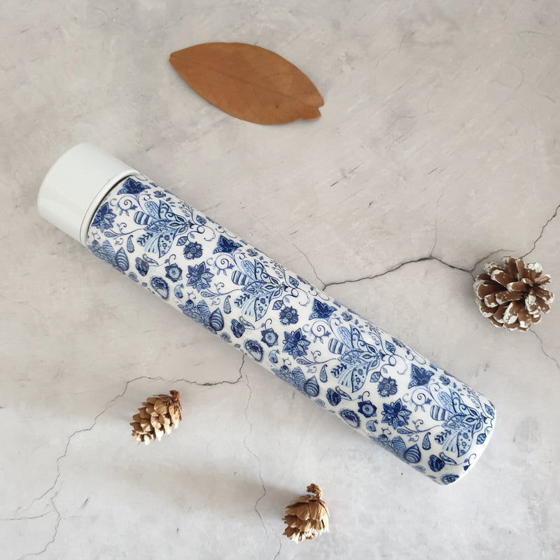 WATER LILY INSULATED DOUBLE-WALLED STAINLESS STEEL SLIM BOTTLE