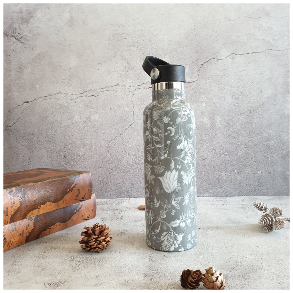INSULATED BOTTLE, 750ml - HANDLE LOOP - FLORAL RADIANCE
