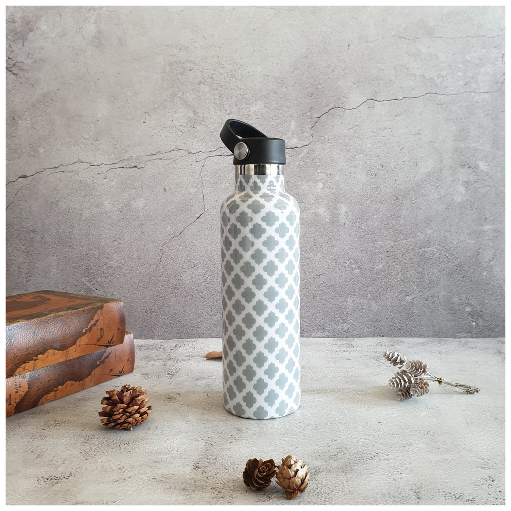 INSULATED BOTTLE, 750ml - HANDLE LOOP - MOROCCAN GREY