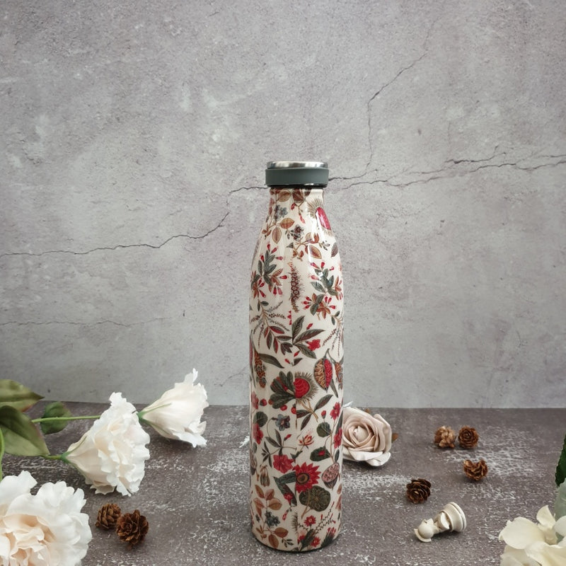 INSULATED 750 ml TALL BOTTLE - TRADITIONAL FORAL