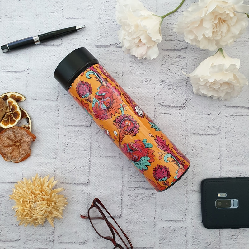 Orange Blossom Insulated Double Walled Stainless Steel Long Bottle
