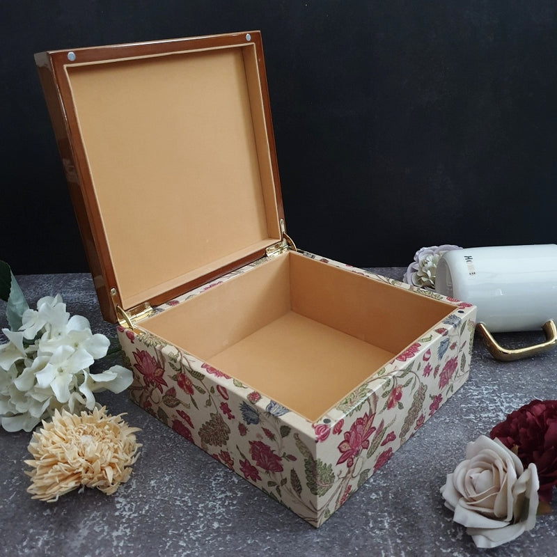 Tree of Life Floral Wooden Tea Box