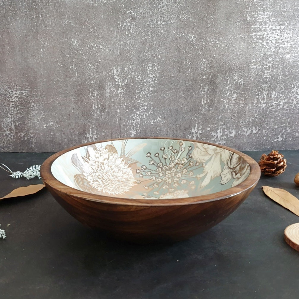 Wooden Serving Bowl, Multi-Purpose - Summer Rain