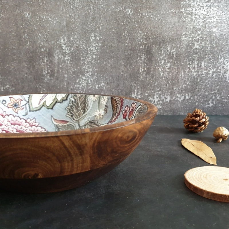 Wooden Serving Bowl, Multi-Purpose - Jaipur Collection
