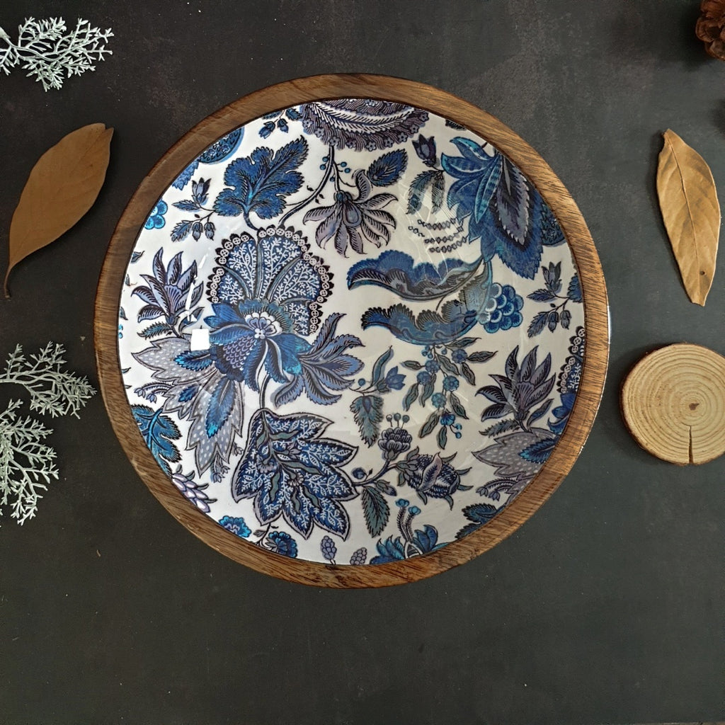 Wooden Serving Bowl, Multi-Purpose - Sapphire Collection