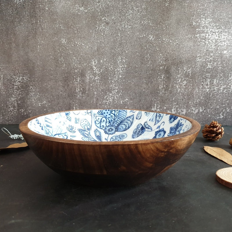 Wooden Serving Bowl, Multi-Purpose - Water Lily
