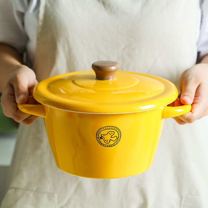 Ceramic - Casserole - Yellow