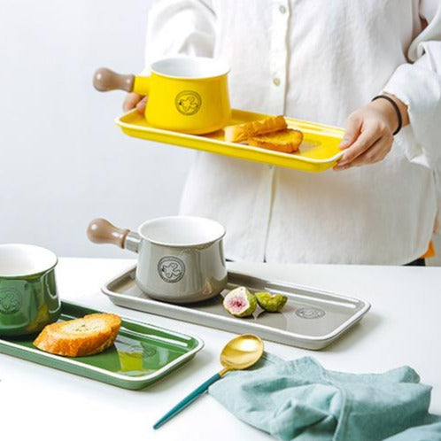 Ceramic - Breakfast/Fondue Set - Yellow