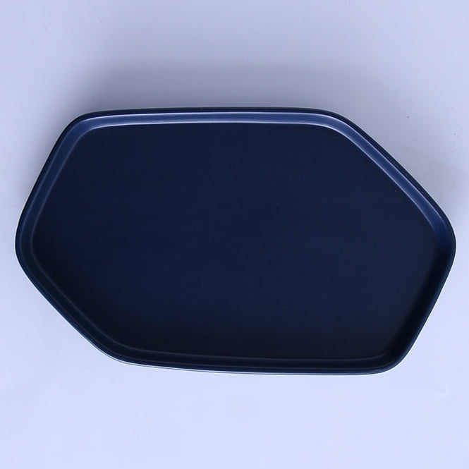 Cascade Cobalt Blue Ceramic - Hexagonal Platter with Small Match Bowl