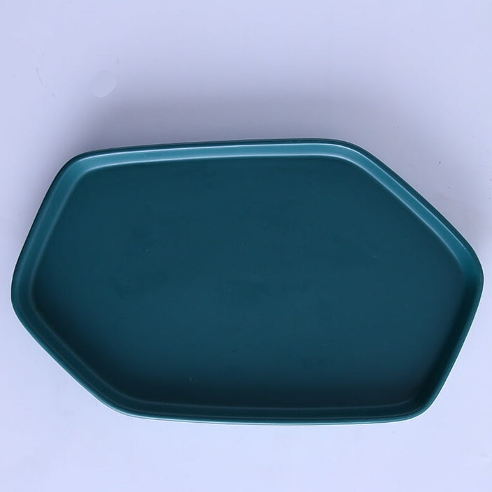 Envy Collection Green Ceramic - Hexagonal Platter with Small Match Bowl