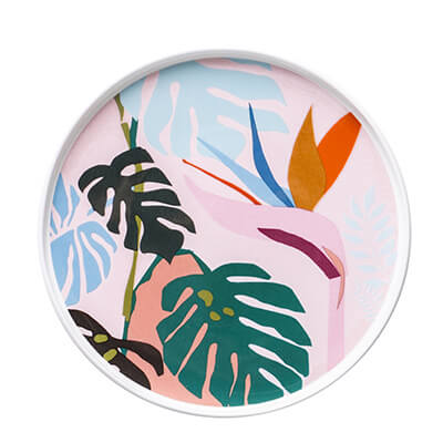 Ceramic - Dessert Platters - Set of 4 - Tropical Collection