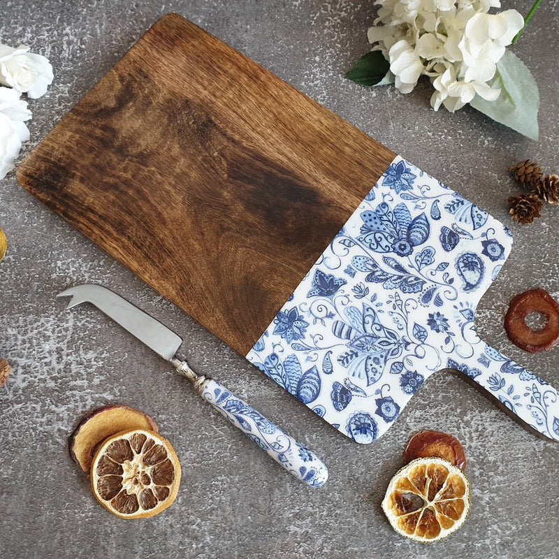 WATER LILY COLLECTION CHEESE BOARD & KNIFE SET