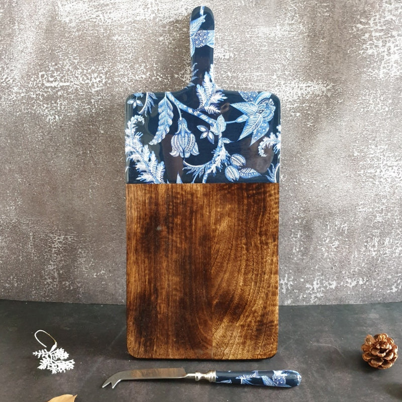 Cheese Board & Knife Set- Blue Knight