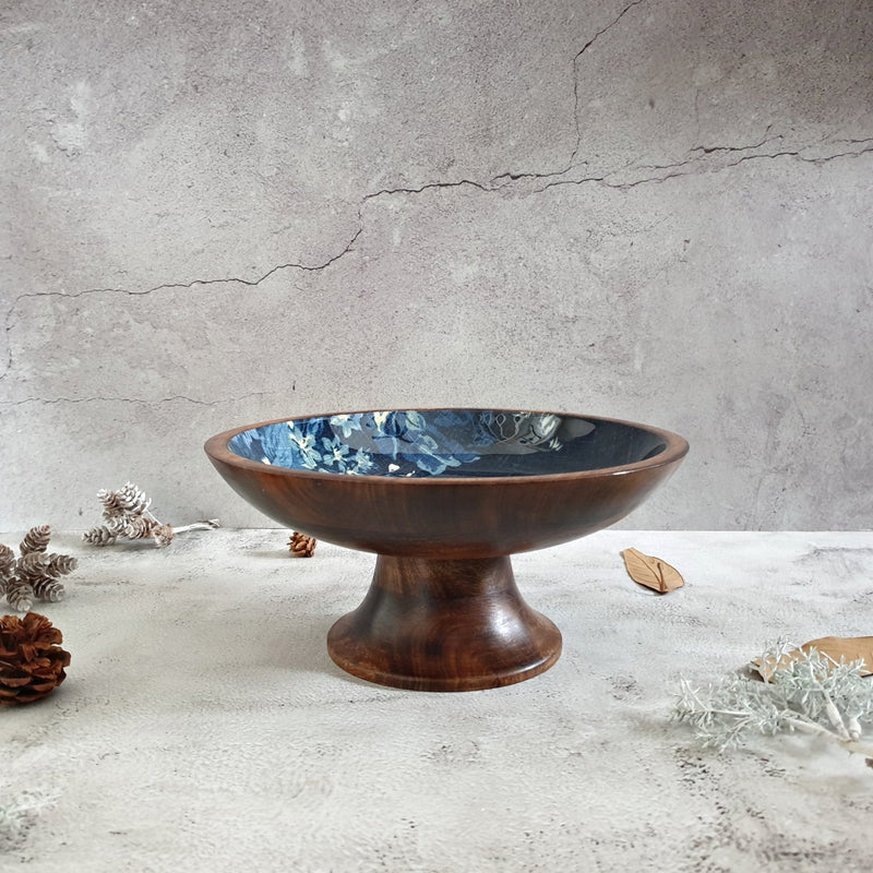 Cake Stand (Small) - Denim Blue Floral