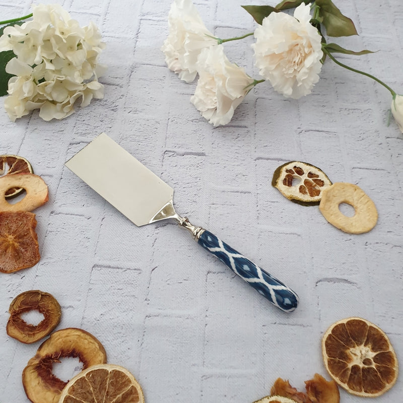 Blue Ikat Cake Server Knife