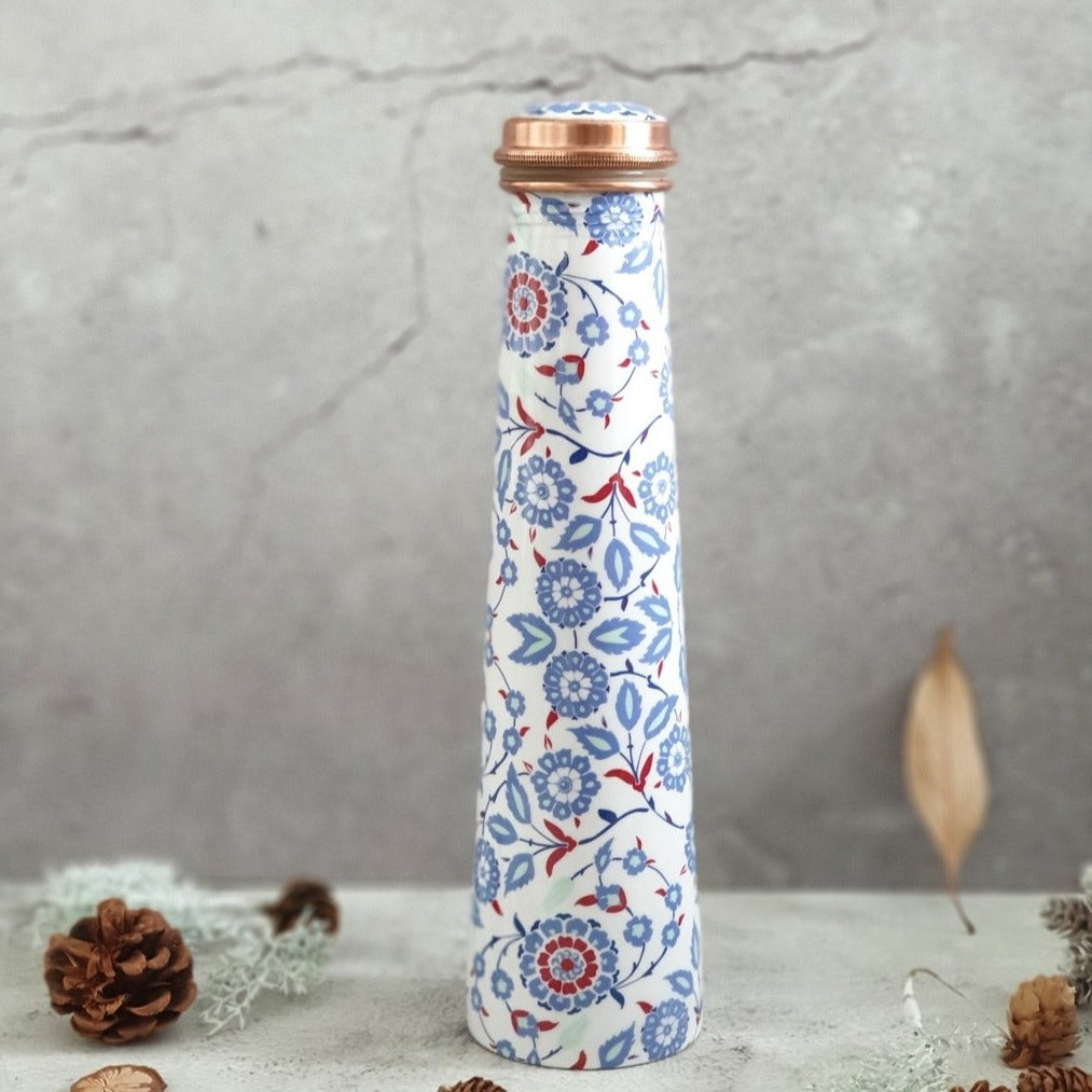Slim Copper Bottle, 750 ML, White Peony