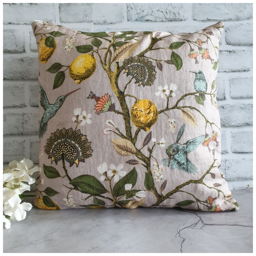 Cushion - Linen - Humming Bird