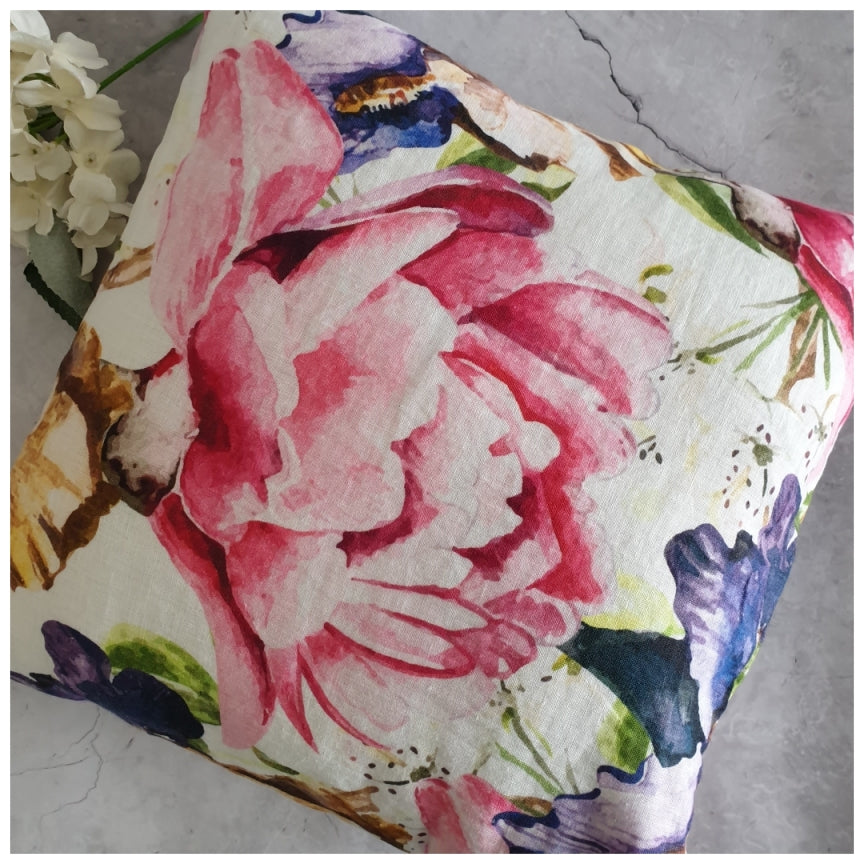 Cushion - Linen - Fuscia Pink