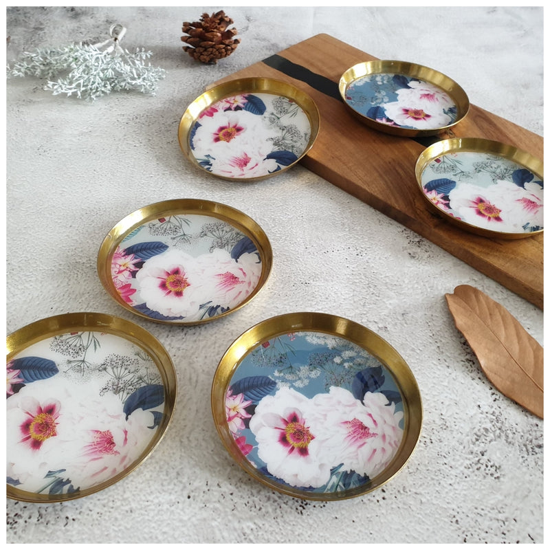 COASTERS, METAL (Set Of 6) - DESERT ROSE COLLECTION