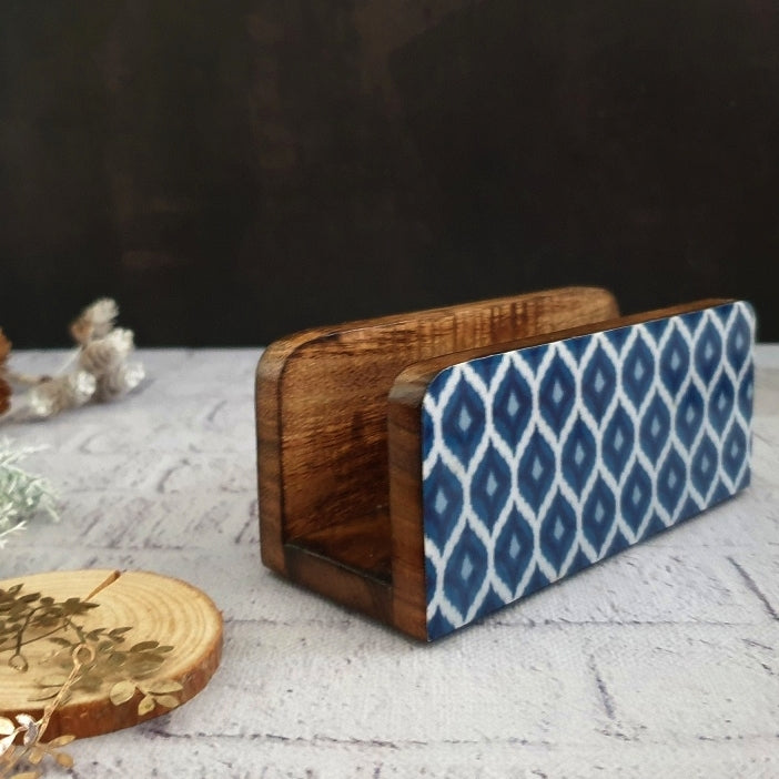 BLUE & WHITE IKAT COLLECTION NAPKIN HOLDER