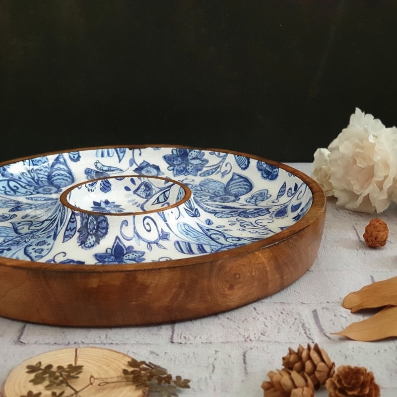 WATER LILY COLLECTION CHIP & DIP PLATTER