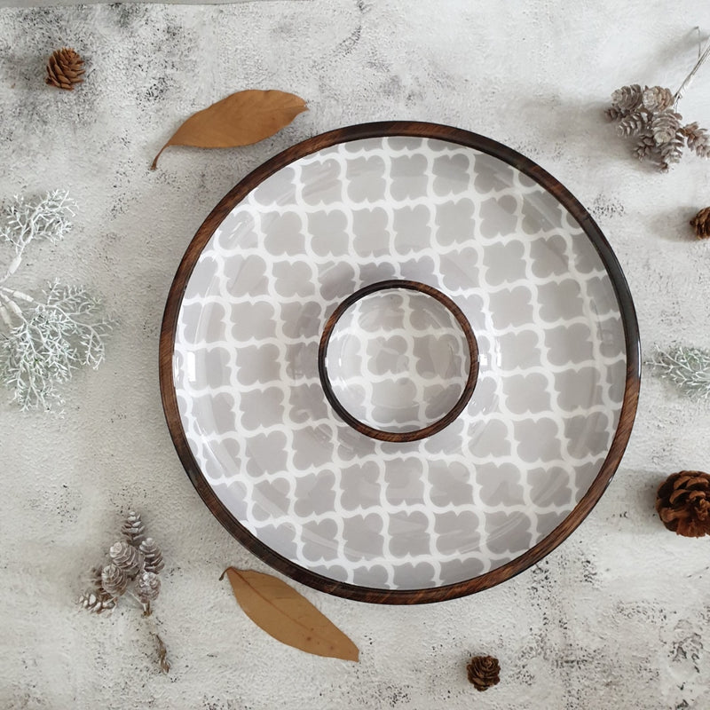 Chip & Dip Platter - Moroccan Gray