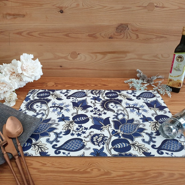 WIPE CLEAN TABLEMATS/PLACEMATS - BLUE ACORN