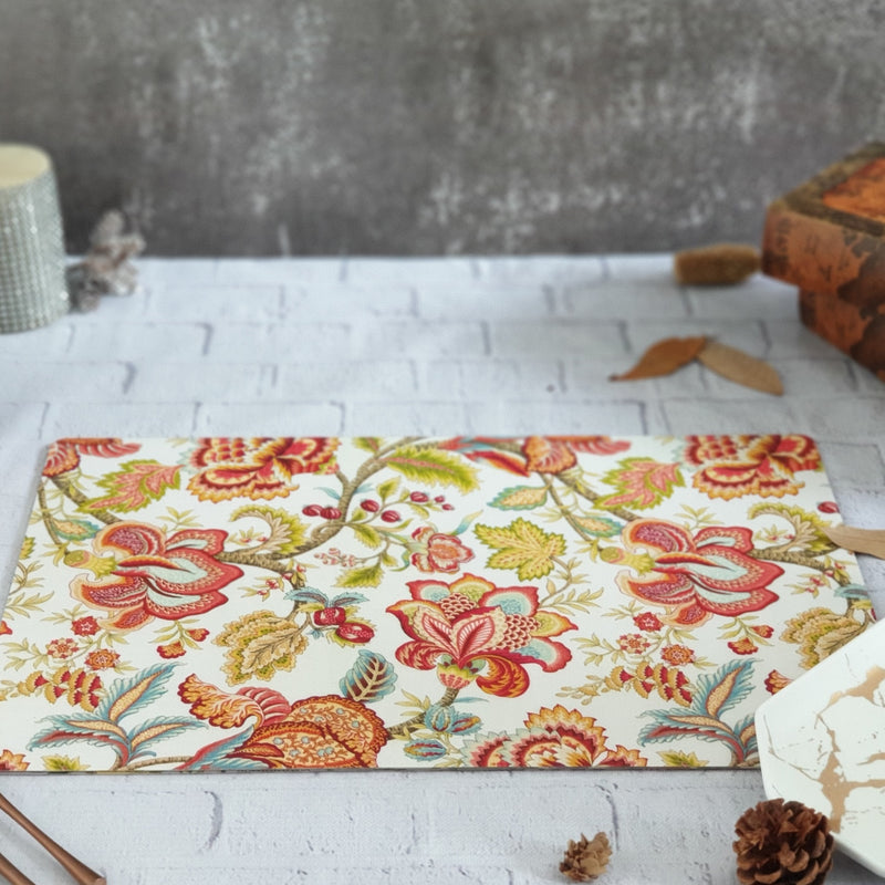 SPRING FLORAL WIPE CLEAN TABLEMATS/PLACEMATS