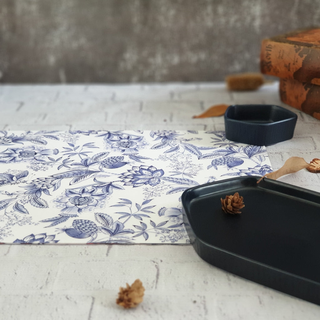 SUMMER BLUE WIPE CLEAN TABLEMATS/PLACEMATS