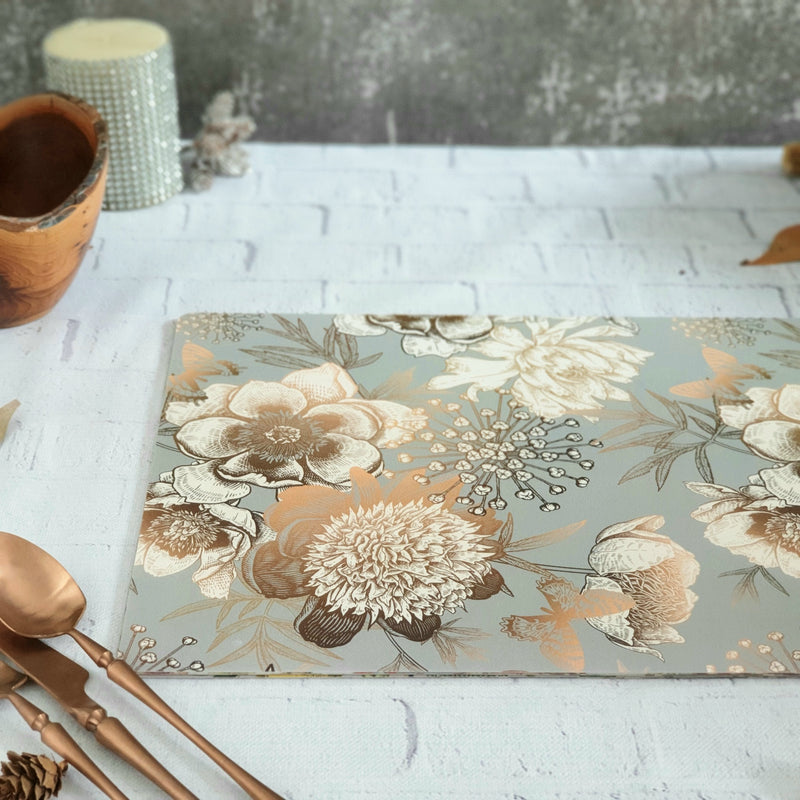 WIPE CLEAN TABLEMATS/PLACEMATS - SUMMER RAIN (Set of 8)