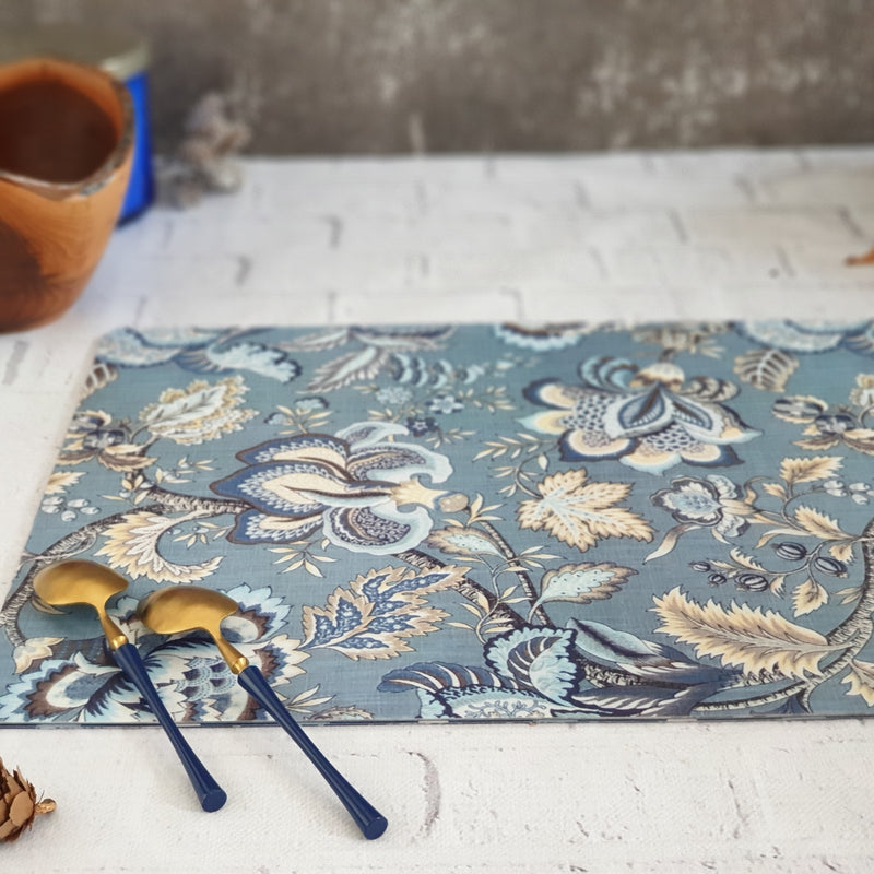 WIPE CLEAN TABLEMATS/PLACEMATS - AZURE SKY FLORAL