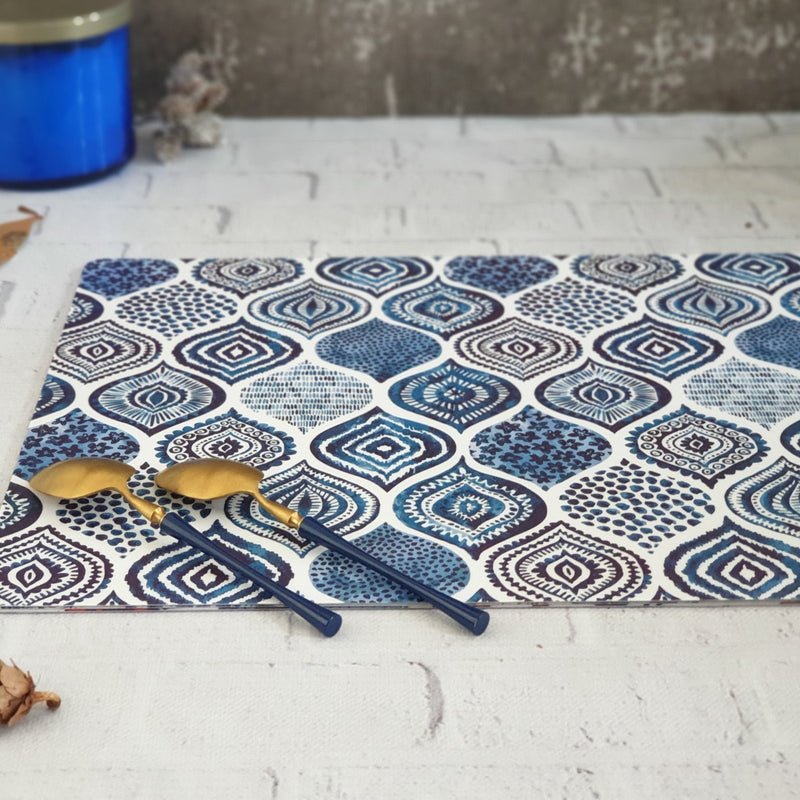 WIPE CLEAN TABLEMATS/PLACEMATS - PALM MANDALA