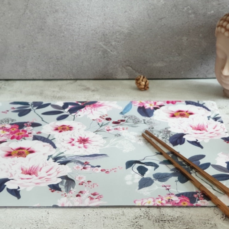 WIPE CLEAN TABLEMATS/PLACEMATS - DUSTY ROSE MINT